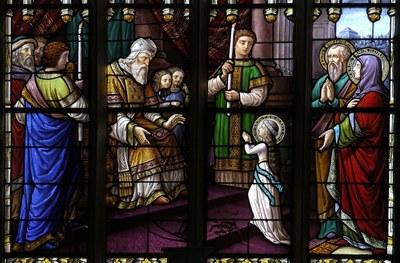 vitrail de la chapelle la ferriere plumeliau